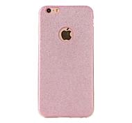 Pour Dépoli Coque Coque Arrière Coque Brillant Flexible PUT pour AppleiPhone 7 Plus iPhone 7 iPhone 6s Plus/6 Plus iPhone 6s/6 iPhone