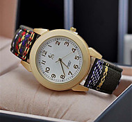 Women's Dress Watch Fashion Watch Quartz PU Band Flower Bohemian Casual Black Green Pink Strap Watch