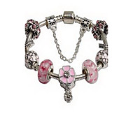 Chain Bracelet Crystal Simulated Diamond Natural Jewelry Pink Jewelry 1pc