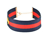 Choker Necklaces Jewelry Nylon Basic Fashion Euramerican Dark Blue Jewelry Daily Casual 1pc