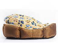 Кошка Собака Кровати Животные Коврики и подушки Footprint / Paw Мягкий Цвет в случайном порядке