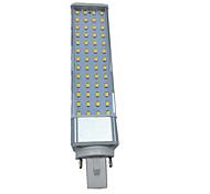 1pcs 10w 1000-1100lm e27 / g23 / g24 55led smd2835 теплый белый / белый ac85-265v светодиодные би-контактные лампы