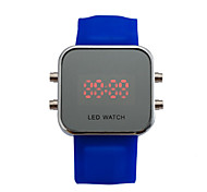 Women's Smart Watch Digital Watch Digital Solar Energy Plastic Band Vintage Black White Blue