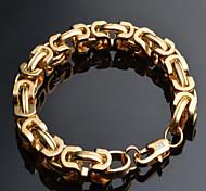 Men's Chain Bracelet Gold Plated 18K gold Fashion Geometric Gold Jewelry 1pc