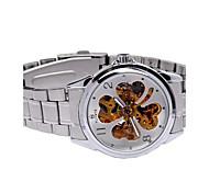 Da uomo orologio meccanico Carica automatica Quadrante grande Acciaio inossidabile Banda Casual Argento