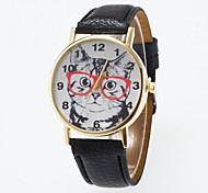 Men's Round Dial Case Leather Watch Brand Fashion Quartz Watch Sport Watch Cool Watches Unique Watches