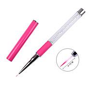 1PCS Pull Rod Nail Pen Powder White Diamond Red White Painted Drawing Pen