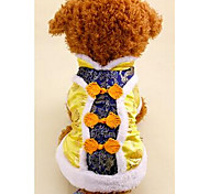 Dog Coat  Dog Clothes Spring/Fall Solid New Year's