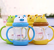 Cartoon Drinkware, 260 ml Portable Leak-proof Plastic Tea Juice Water Bottle
