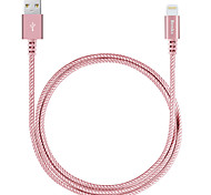 Benks MFI ligthning cabo com carga rápida 2.4a para iphone 7 6s 6 mais se 5s 5c de ar 5 / iPad / iPad pro 9.7 trançada à nylon
