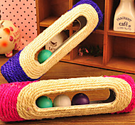 Cat Toy Dog Toy Pet Toys Teaser Durable Sisal Purple