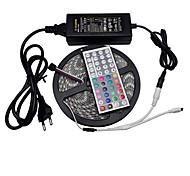5m 300LED СМД 5050 RGB Гибкие светодиодные ленты водонепроницаемый 44keys л 6а источник питания контроллер 12v RGB