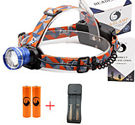 U'King® ZQ-X830BL#3-US CREE XML-T6 LED 2000LM Zoomable 180 Rotate 3Modes Headlamp Bike Light Kits with Rear Safety LED