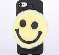 For Wallet with Stand DIY Case Back Cover Case Smiling Face Soft TPU for Apple iPhone 7 Plus iPhone 7 iPhone 6s Plus/6 Plus iPhone 6s/6