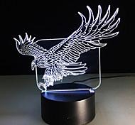 3D-Illusion bulding Nachtlicht ton LED-Lampe Farben ändern Adler Kunst Skulptur Tischleuchte produziert einzigartige Hund Strauß Libelle
