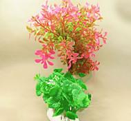 Decoración de Acuario Flor No Tóxico y Sin Sabor Plástico Rosado