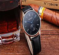 Fashion Watch Quartz PU Band Charm Black