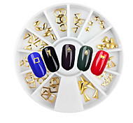 1set Metal Gold Rivets Alloy Jewelry Nail Art Decoration