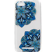 For WIKO LENNY3 Case Cover Diagonal Flower Painted Pattern TPU Material Phone Case