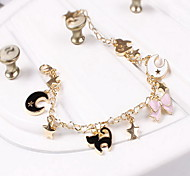 Bracelet Charm Bracelet Alloy Star Animal Shape Others Fashion Birthday Engagement Gift Valentine Christmas Gifts Jewelry Gift Gold Black,