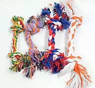 Cat Toy Dog Toy Pet Toys Chew Toy Interactive Teeth Cleaning Toy Rope Durable Woven Dog Random Color Cotton