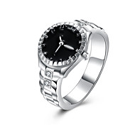 Gorgeous New Fashion Silver Jewelry Silver Plated Cubic Zirconia Watch Ring Party/Wedding Jewelry For Women