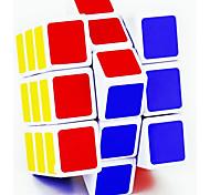 Glatte Geschwindigkeits-Würfel 3*3*3 Spiegel Magische Würfel Regenbogen Silber Scrub Aufkleber Lingyun Anti-Pop Plastik