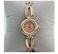 Femme Bracelet de Montre Montre Diamant Simulation Quartz / Plaqué Or Rose Acier Inoxydable Bande rétro Blanc Doré Blanc Doré