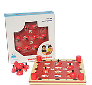 Memory Match Board Teddy Bear  Game Leisure Hobby Toys Novelty Cylindrical Wood Dark Red For Boys For Girls