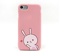 For iPhone 7 7plus 6S 6plus Case Rabbit Pattern Pink TPU Material