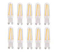 4W E14 G9 Bombillas de Filamento LED T 4 COB 400 lm Blanco Cálido Blanco Fresco Regulable AC 100-240 V 10 piezas