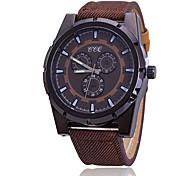Fashion Watch / Quartz Fabric Band Casual Black Blue Orange Brown