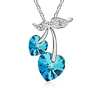 Pendant Necklaces Crystal Alloy Single Strand Basic Purple Pink Light Blue Light Green Jewelry Daily Casual 1pc
