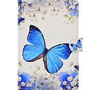 Для со стендом С узором Кейс для Чехол Кейс для Бабочка Твердый Искусственная кожа для Apple iPad Mini 4 iPad Mini 3/2/1