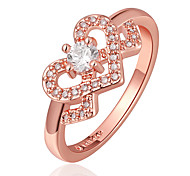 Jewelry  Rose Gold Tone Lovely Girl's CZ Crown Shaped Small Finger Ring for Girl
