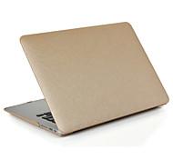 padrão de seda pu protector de couro filme de tela caso difícil para o ar macbook 11,6 13,3