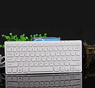 mini teclado portátil USB teclado externo ultra-delgada de chocolate Mini teclado teclado de ordenador con cable