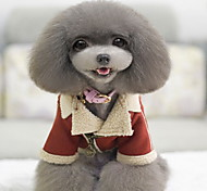 Собаки Плащи Одежда для собак Весна/осень Однотонный Спорт Красный