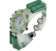Fashion Watch Quartz Jade Band Casual Green
