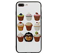 Для Кольца-держатели С узором Кейс для Задняя крышка Кейс для Продукты питания Твердый PC для Apple iPhone 7 Plus iPhone 7