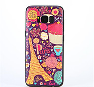 For Samsung S8 Pattern Case Back Cover Case Eiffel Tower Soft TPU