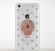 Для Стразы Кольца-держатели Прозрачный Своими руками Кейс для Задняя крышка Кейс для Плитка Мягкий TPU для Apple iPhone 7