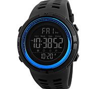 Men's Sport Watch Wrist Digital LCD Calendar Water Resistant Dual Time Zones Alarm Stopwatch Rubber Band Cool