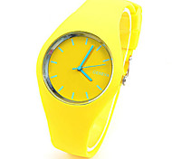 Women's Fashion Watch Quartz Rubber Band Casual Blue Green Yellow