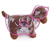Кошка Собака Дождевик Одежда для собак Очаровательный На каждый день Двухсторонний Сплошной цвет Белый Розовый Синий