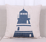 1 pcs Linen Pillow Cover Pillow Case,Textured Nautical Still Life Graphic PrintsCasual Modern/Contemporary Office/Business Outdoor Euro