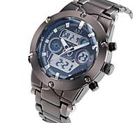 ASJ Мужской Спортивные часы Наручные часы Японский Кварцевый LCD Календарь Секундомер Защита от влаги С двумя часовыми поясами тревога