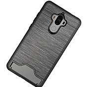 For Huawei Mate 9  Cover Case Card Holder Shockproof Back Cover Case Solid Color Hard PC