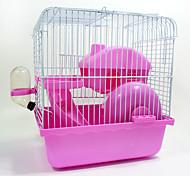 Грызуны Шиншиллы Клетки Переносной Косплей Многофункциональный Металл Пластик Синий Розовый