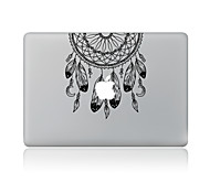 For MacBook Air 11 13/Pro13 15/Pro With Retina13 15/MacBook12 Black Feathers Decorative Skin Sticker